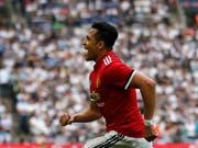Glich für Manchester United im Cup-Halbfinal im Wembley gegen Tottenham zum 1:1 aus: Alexis Sanchez (Bild: KEYSTONE/AP/FRANK AUGSTEIN)