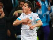 Trumpfte bei Marseilles deutlichem Sieg gegen Lille auf: Florian Thauvin (Bild: KEYSTONE/EPA/GUILLAUME HORCAJUELO)