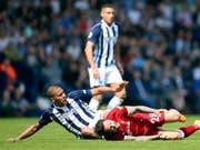 Torschützen im Zweikampf: West Bromwichs Salomon Rondon (links) und Liverpools Danny Ings (Bild: KEYSTONE/AP PA/NIGEL FRENCH)