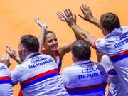 Brachte Tschechien im Fed Cup in Stuttgart gegen Deutschland 2:0 in Führung: Karolina Pliskova (Bild: KEYSTONE/AP dpa/THOMAS NIEDERM'LLER)
