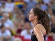 Patty Schnyder steht gegen Simona Halep auf verlorenem Posten (Bild: KEYSTONE/GEORGIOS KEFALAS)