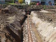 In Münchwilen AG wurde ein Teil einer römischen Wasserleitung freigelegt. Sie versorgte eine frühzeitliche Raststätte mit dem kostbaren Nass. (Bild: Handout Kantonsarchäologie AG)