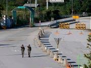 Geste: Südkorea stoppt seine Propaganda-Beschallung an der Demarkationslinie zu Nordkorea. (Bild: KEYSTONE/EPA FILE/JEON HEON-KYUN)