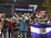 Erfolgreiche Proteste: Nicaraguas Präsident Daniel Ortega hat sein Reformvorhaben des Sozialversicherungssystems zurückgezogen. (Bild: KEYSTONE/AP/ALFREDO ZUNIGA)