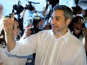 Der neue Präsident von Paraquay heisst Mario Abdo Benítez. (Bild: KEYSTONE/EPA EFE/ANDRES CRISTALDO)