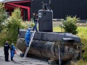 Madsens U-Boot wird von dänischen Kriminaltechnikern untersucht (Aufnahme vom August 2017). (Bild: KEYSTONE/AP Ritzau Foto/JACOB EHRBAHN)