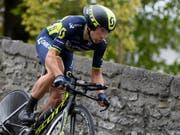 Michael Albasini vor genau einem Jahr beim Start zur Tour de Romandie (Bild: KEYSTONE/LAURENT GILLIERON)