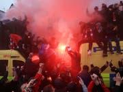 Einige Anhänger von Liverpool und der Roma sorgten für Probleme in der englischen Stadt (Bild: KEYSTONE/AP PA/PETER BYRNE)