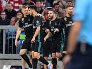 Titelverteidiger Real Madrid ist nach dem 2:1-Sieg in München in der Champions League erneut auf Finalkurs (Bild: KEYSTONE/AP/KERSTIN JOENSSON)