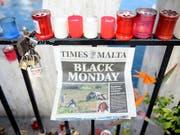 Malta verlor mehrere Plätze im Index der Pressefreiheit: Grund ist das Attentat an einer investigativen Journalistin. (Bild: KEYSTONE/AP/RENE ROSSIGNAUD)