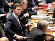 Der niederländische Premier Mark Rutte an einer Sitzung des Uno-Sicherheitsrats. (Bild: KEYSTONE/AP/SETH WENIG)