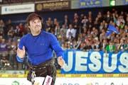 Im März 2011 wird der von den Fans als «Jesus of Hockey» verehrte Paul Di Pietro in Zug verabschiedet, in zehn Tagen kehrt in den Staff des EVZ zurück. (Bild: Freshfocus/Daniela Frutiger)