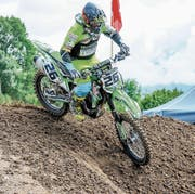 Lukas Schmidiger unterwegs beim letztjährigen Motocross in Grosswangen. (Bild: Tamara Huber (Grosswangen, 10. September 2017))