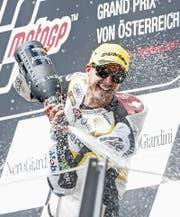 In der MotoGP-Klasse dürfte Tom Lüthi selten auf dem Podest zu sehen sein. (Bild: Erwin Scheriau/Keystone (Spielberg, 13. August 2017))