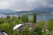 Das Beachvolleyball-Turnier in Luzern muss aus dem diesjährigen Turnierkalender gestrichen werden. (Bild: Philipp Schmidli (Luzern, 16. Mai 2016))