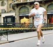 Das war 1991: Werner Bucher wie jedes Jahr am Stadtlauf.Bild WB
