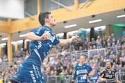Am rechten Flügel Matchwinner für die Krienser: Claudio Vögtli. (Bild: Pius Amrein (Kriens, 28. März 2018))