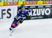 EVZ-Spieler Damien Brunner in Aktion. (Bild Archiv Neue ZZ/Stefan Kaiser)