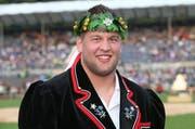 Hansjörg Gloggner gewann am Eidgenössischen Schwing- und Älplerfest 2013 in Burgdorf einen Kranz. (Bild Philipp Schmidli)
