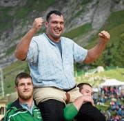 Daniel Bösch siegte zuletzt beim Bergfest auf der Schwägalp. (Bild: Gian Ehrenzeller/Keystone (Schwägalp, 20. August 2017))