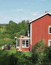 Viele Schwedenhäuser sind rot gestrichen.