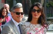 George und Amal Clooney (Bild: Splash News)