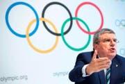 IOC-Präsident Thomas Bach. (Bild: EPA/Laurent Gillieron)