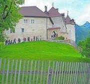 Das Schloss im Städtchen Gruyère. (Bild: Arthur Vogel)