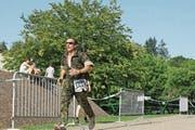 Albert Zumstein, hier unterwegs beim Waffenlauf in Muri im Jahr 2011. (Bild: PD)