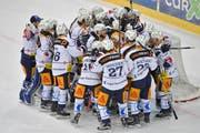 Der EVZ spielt erstmals seit 19 Jahren in den Playoff-Finals. (Bild: Keystone/Jürgen Staiger)