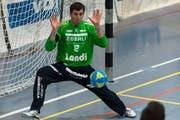 Der Goalie des HC Kriens-Luzern gibt sein Comeback: Roman Schelbert. (Archivbild)