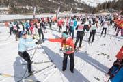 Auch dieses Jahr eine riesen Veranstaltung: Der Engadiner Skimarathon. (Bild: Keystone)