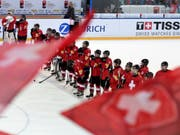 Der Schweizer Hockeynachwuchs kann mit dem Klassenerhalt planen (Bild: KEYSTONE/VALERIANO DI DOMENICO)
