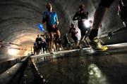 2011: im Tunnel der Zentralbahn (NeueLZ/Nadia Schärli) (Bild: Nadia Schärli (Luzern, 30. Oktober 2011))