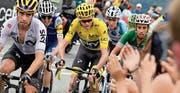 Fünf mögliche Tour-de-France-Sieger (von links): Mikel Landa, Daniel Martin, Chris Froome, Romain Bardet und Fabio Aru. (Bild: Bernard Papon/AP (Peyragudes, 13. Juli 2017))