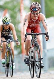 Mit dem Rennrad und auf der Laufstrecke legte Jolanda Annen die Basis für das starke Ergebnis. (Bild: Thommy Zaferes und Viviane's Logbooklet)