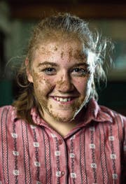 Sarah Wisler (17) im Schwingkeller in Wolhusen. (Bild: Roger Grütter (Wolhusen, 19. September 2017))