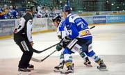 Eishockey in der Bossard-Arena mit der EVZ Academy im Spiel gegen den EHC Olten am vergangenen Samstag. Bild: Werner Schelbert (Zug, 24. September 2016)