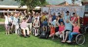 Die gut gelaunte Procap-Delegation am Sport- und Bewegungsanlass in Tenero TI.Bild: Procap
