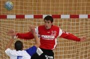 HC Kriens-Luzern-Goalie Roman Schelbert. (Archivbild Philipp Schmidli/Neue LZ)