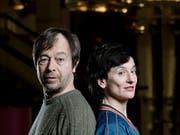 Die Träger des Schweizer Grand Prix Theater 2018 / Hans-Reinhart-Ring: Stefan Colombo und Nora Vonder Mühll vom Schaffhauser Theater Sgaramusch. (Bild: BAK / Gneborg 2018.)