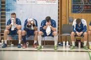 Gross ist die Enttäuschung bei den Kriensern nach dem Playoff-Viertelfinal-Aus gegen Bern Muri. (Bild: Boris Bürgisser (Kriens, 13. April 2018))