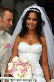 2010, nach zwei Jahren Beziehung, heirateten Bianca Sissing (36) und Pirmin Loetscher - und sind noch immer schwer verliebt. Der Personal Coach und die Miss Schweiz 2003 wollen bald eine Familie gründen. (Bild: André Häfliger)