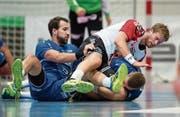 Teamstütze Fabio Baviera (links) trat letzte Woche zurück – wegen Motivationsproblemen. (Bild: Philipp Schmidli (Luzern, 7. Oktober 2017))