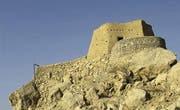 Das Fort al-Dhaya ist nur zu Fuss erreichbar. Die Sicht von hier oben reicht bis Oman. (Bild: fotolia)