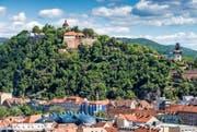 Der Grazer Schlossberg ist ein Fels aus Dolomitgestein und bildet den Kern der historischen Altstadt. (Bild Graz Tourismus)