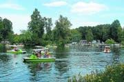 Pedalofahren auf einem See im Gorki-Park, dem Lieblingsort vieler Moskauerinnen und Moskauer. (Bild Julia Barandun)