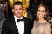 Da waren sie noch glücklich: Brad Pitt und Angelina Jolie. (Bild: Bang Showbiz Entertainment)