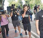 Kameras begleiteten Peter Sagan gestern Morgen vor seiner Abreise. (Bild: Dirk Waem/Imago (Vittel, 5. Juli 2017))