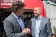 In seiner Art, aber auch in seiner Entwicklung erinnert Contini an Jeff Saibene, den erfolgreichsten Trainer des FC St.Gallen in bald zehn Jahren Arena. (Archivbild/Urs Bucher)